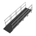 "Universal Straight ADA Wheelchair Ramp for 16"" High Stages"