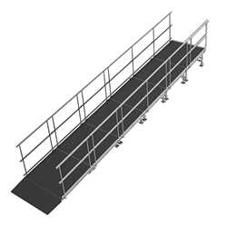 "Universal Straight ADA Wheelchair Ramp for 24"" High Stages universal ramp, universal wheelchair ramp, universal ada ramp, ada ramp, 24 inch stage ramp, 24 in wheelchair ramp, portable stage ramp"
