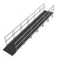 "Universal Straight ADA Wheelchair Ramp for 24"" High Stages"