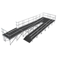 "Universal Switchback ADA Wheelchair Ramp with Landing for 32"" High Stages"