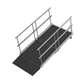 "Universal Straight ADA Wheelchair Ramp for 8"" High Stages"