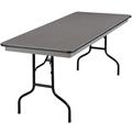 "Midwest Folding 630NLW 30""x72"" Folding Table, Hexalite"