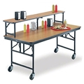 "Midwest Folding 30""x72"" Mobile Buffet/Bar Table, Laminate"