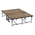 "Midwest Folding 4'x8'x24"" Fixed-Height Mobile Stage, Hardboard"