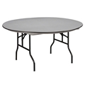 "Midwest Folding R60NLW 60"" Round Folding Table, Hexalite"