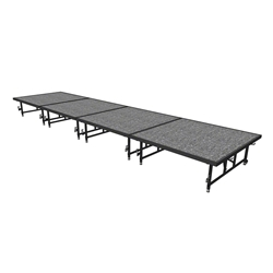 "Midwest Folding 4x16 TransFold Dual-Height Portable Stage Kit, 16""-24"" High 4x16, 16x4, 4 x 16 staging platform, stage deck, dual height, adjustable height"