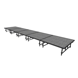 "Midwest Folding 4x20 TransFold Dual-Height Portable Stage Kit, 16""-24"" High 4x20, 20x4, 4 x 20 staging platform, stage deck, dual height, adjustable height"