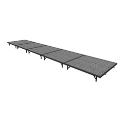 "Midwest Folding 4x20 TransFold Portable Stage Kit, 8"" High 4x20, 20x4, 4 x 20 staging platform, stage deck, dual height, adjustable height"