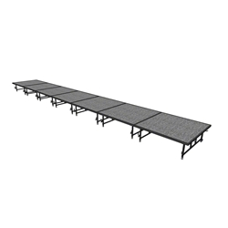 "Midwest Folding 4x28 TransFold Dual-Height Portable Stage Kit, 16""-24"" High 4x28, 28x4, 4 x 28 staging platform, stage deck, dual height, adjustable height"