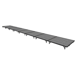 "Midwest Folding 4x32 TransFold Portable Stage Kit, 8"" High 4x32, 32x4, 4 x 32 staging platform, stage deck, dual height, adjustable height"