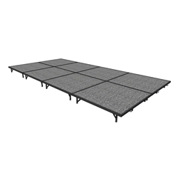 "Midwest Folding 8x16 TransFold Portable Stage Kit, 8"" High 8x16, 16x8, 8 x 16 staging platform, stage deck, dual height, adjustable height"