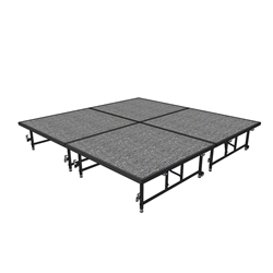 "Midwest Folding 8x8 TransFold Dual-Height Portable Stage Kit, 16""-24"" High 8x8, 8x8, 8 x 8 staging platform, stage deck, dual height, adjustable height"