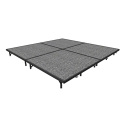 "Midwest Folding 8x8 TransFold Portable Stage Kit, 8"" High 8x8, 8x8, 8 x 8 staging platform, stage deck, dual height, adjustable height"