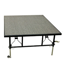 "Midwest Folding 3x4 Dual-Height TransFold Stage, 16""-24"" High midwest folding, portable stages, event stages, transfold stages, dual height, height adjustable, 3x4, 3x4, 3 x 4, 4 x 3"