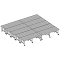 "Midwest Folding 16'x20' Dual-Height TransFold Stage with Step, 24""-32""H"