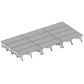 "Midwest Folding 16'x24' Dual-Height TransFold Stage with Step, 24""-32""H"