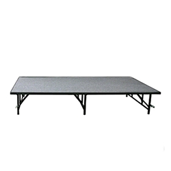 Midwest Folding 3x6 Fixed-Height TransFold Stage portable staging, midwest folding, 3x6, 3 x 6, 6x3, 6 x 3, fixed height, transfold, transfold stage