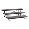 "Midwest Folding 3-Tier TransFold Standing Choral Riser, 72"" Wide"