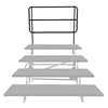 "Midwest Folding TransFold Back Guard Rail for 4-Tier 72"" Reverse Tapered Standing Choral Riser"