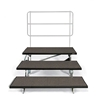 "Midwest Folding TFSR72 3-Tier TransFold Reverse Tapered Standing Choral Riser, 72"" Wide"