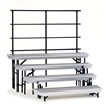 National Public Seating TransPort 4-Level Tapered Choral Riser and Guard Rail Bundle