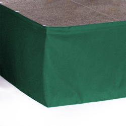 Ameristage StageWrap™ Custom Stage Skirt - Flat Wrap Polyester stage skirting, custom stage skirt, platform skirt, platform skirting, stage wrap, flat skirt, drape, stagewrap, 3x3, 4x4, 4x8, 3x8, flatwrap