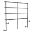National Public Seating TransPort 4-Level Straight Choral Riser and Guard Rail Bundle - TP72BUN4