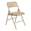 National Public Seating 1201 Vinyl Premium Folding Chair, French Beige