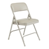 National Public Seating 1202 Vinyl Premium Folding Chair, Grey