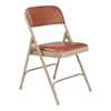 National Public Seating 1203 Vinyl Premium Folding Chair, Honey Brown/Beige