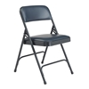 National Public Seating 1204 Vinyl Premium Folding Chair, Dark Midnight Blue