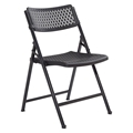 National Public Seating 1410 Airflex Premium Polypropylene Folding Chair, Black