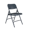 National Public Seating 204 Premium All-Steel Folding Chair, Char-Blue