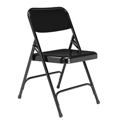 National Public Seating 210 Premium All-Steel Folding Chair, Black folding chairs, 200 series, nps