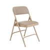 National Public Seating 2201 Fabric Premium Folding Chair, Cafe Beige