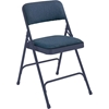 National Public Seating 2204 Fabric Premium Folding Chair, Imperial Blue/Char-Blue