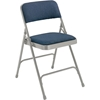 National Public Seating 2205 Fabric Premium Folding Chair, Imperial Blue/Grey