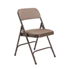National Public Seating 2207 Fabric Premium Folding Chair, Russet Walnut