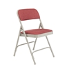 National Public Seating 2208 Fabric Premium Folding Chair, Majestic Cabernet