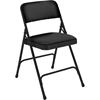 National Public Seating 2210 Fabric Premium Folding Chair, Midnight Black