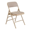 National Public Seating 2301 Fabric Premium Triple Brace Folding Chair, Cafe Beige