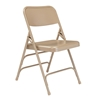 National Public Seating 301 Deluxe All-Steel Triple Brace Folding Chair, Beige