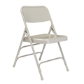National Public Seating 302 Deluxe All-Steel Triple Brace Folding Chair, Grey