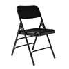National Public Seating 310 Deluxe All-Steel Triple Brace Folding Chair, Black