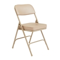 "National Public Seating 3201 Premium 2"" Vinyl Upholstered Folding Chair, Beige"