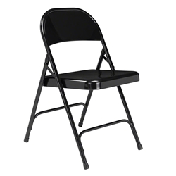 National Public Seating 510 Standard All-Steel Folding Chair, Black folding chairs, 50 series, metal chairs