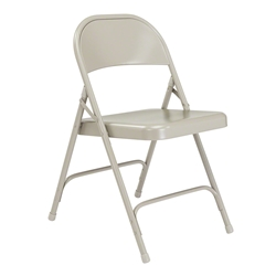 National Public Seating 52 Standard All-Steel Folding Chair, Grey folding chairs, 50 series, metal chairs, gray