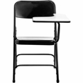 National Public Seating 5210L Tablet Arm Folding Chair, Left Arm, Black
