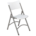 National Public Seating 602 Plastic Folding Chair, Speckled Grey