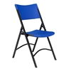 National Public Seating 604 Heavy-Duty Plastic Folding Chair, Blue